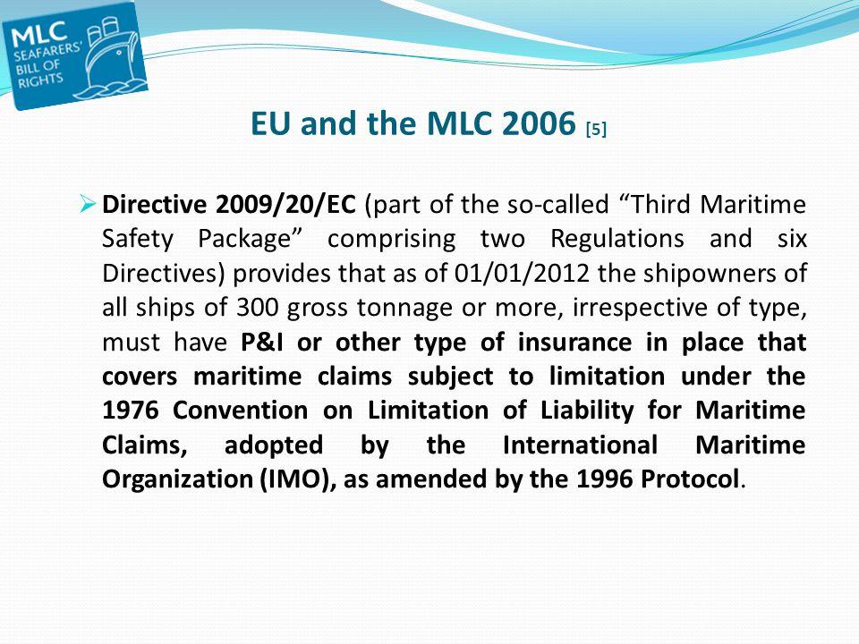 EU and the MLC 2006 [5]
